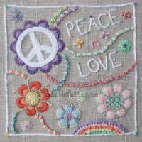 Peace n Love Crewel Embroidery Pattern and Kit
