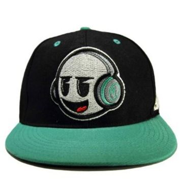 Emazing Lights DJ Dank Head Rave Snapback Hat (Mint Green)