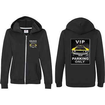 Ladies Ford Full Zip Hoodie Boss 302 VIP Parking Front and Back