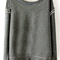 CHANDELIER SLEEVE CREWNECK