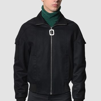 J.W. ANDERSON High Neck Flight Jacket With Zip Detail