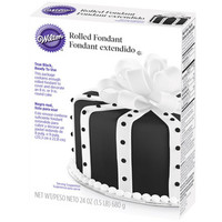 Rolled Fondant - Black: 24-Ounce Package
