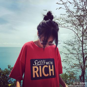 Sorry We're Rich Tee