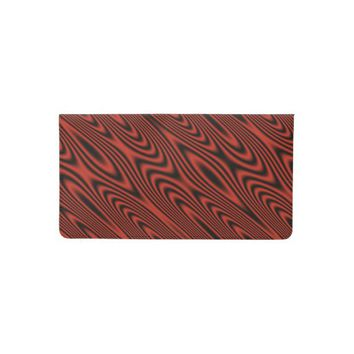 Red and Black Swirl Checkbook Cover