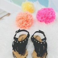Girls Boho Baby Sandal - Black