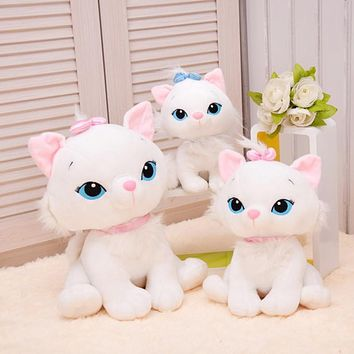 The Aristocats Cat Plush Toys Marie Cat Plush Dolls Soft Stuffed Animals Toys For Children 18cm 1pc