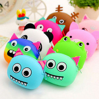 Women Girls Wallet Kawaii Cartoon Animal Silicone Jelly Coin Bag Purse Kids 3C