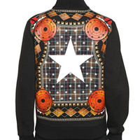 Givenchy Multicolor Scarf Print Neoprene Casual Jacket