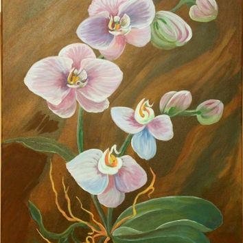 """Orchid * Bright picture. * Decorations * Painting On Canvas - Size: 70/50cm (27.5/ 19.6"""")"""