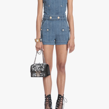 Short denim jumpsuit | Women's short | Balmain