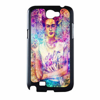 Frida Kahlo Flower Paintings On Galaxy Nebula Samsung Galaxy Note 2 Case