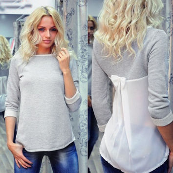 Bow Blouse Sweater
