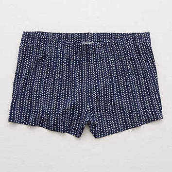 Aerie Printed Short , Navy