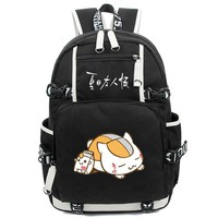 Natsume Yuujinchou Backpack Black Men Knapsack  Large Capacity Laptop Travel Bags School BagsMochila