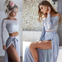 2pc Boho Maxi Skirt Set