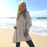 Aspen Bound Sweater Tunic In Cream