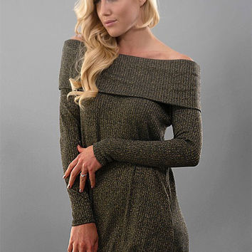 Sass & Sparkle Off the shoulder sweater