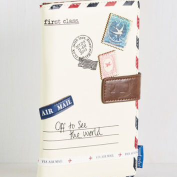Seine Me a Postcard Travel Wallet | Mod Retro Vintage Wallets | ModCloth.com
