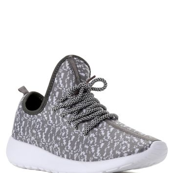 Gray Keep Active Knit Sneakers