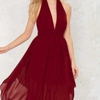 Nasty Gal Go With the Low Plunging Dress
