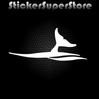 Whale Tail - Humpback Auto Window High Quality Professional All Weather Vinyl Decal Sticker 01062