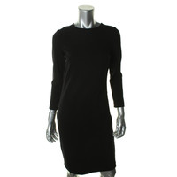 Vince Womens Crepe Long Sleeves Wear to Work Dress