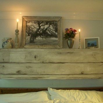 Distressed Furniture - Wall Shelf Ledge - Wood, Shabby - Farmhouse Chic - French Country, Distressed - 44 Inches