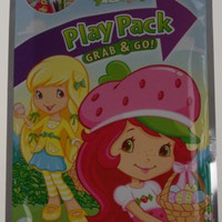Strawberry Shortcake Play Pack Lot 12 Grab Go Coloring Book Crayons Stickers