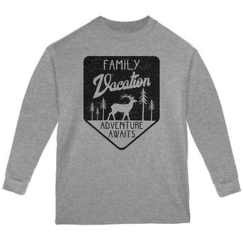 Family Vacation Adventure Awaits Youth Long Sleeve T Shirt