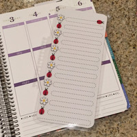 FREE SHIPPING Ladybug Laminated Dashboard Insert for Erin Condren Life Planner/Plum Paper Planner - clips right into coils!