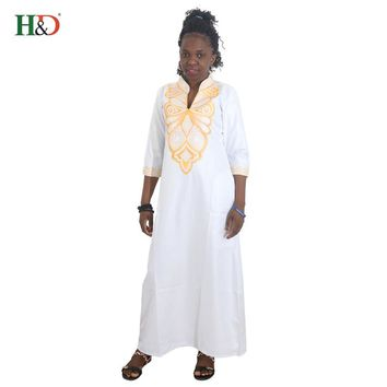 H&D New African women Bazin Traditional embroideri clothing African Dashiki Riche bazin Dresses For Women