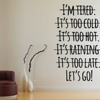 Wall Decals Quote Motivation Let's Go Decal Vinyl Sticker Family Bedroom Nursery Baby Room Home Decor Art Murals Office Ms573