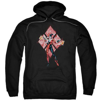 Batman - Harley Quinn (Diamonds) Adult Pull Over Hoodie