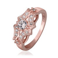 Rose Gold Plated Blossoming Design Ring