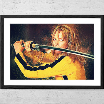 Beatrix Kiddo - Kill Bill, Illustration - Wall art Poster - Fine Art Print for Interior Decoration
