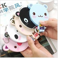 1pc Cute Cartoon Cosmetic Mirror Comb Set  Lady Girl