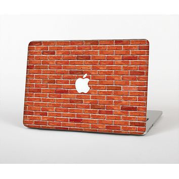 The Bright Red Brick Wall Skin for the Apple MacBook Air 13""