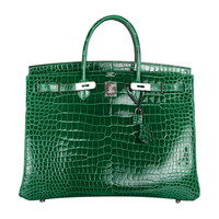 "HERMES ""URBAN LEGEND"" 40cm VERT EMERALD BIRKIN BAG JaneFinds"