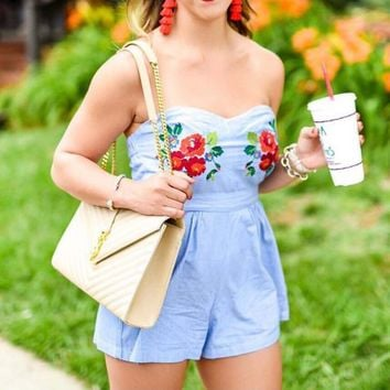 Chambray Gal Romper