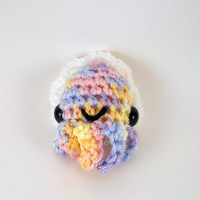 Pastel Rainbow Baby Cuttlefish - Made to Order - Crocheted Plushie