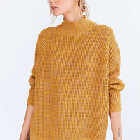 BDG Waffle-Knit Turtleneck Sweater - Urban Outfitters