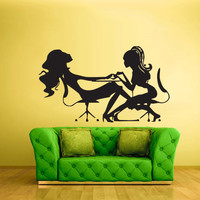 Wall Decal Vinyl Sticker Decor Art Bedroom Girls Table Maniqure Make up Relax Fashion Salon Hair (z2204)