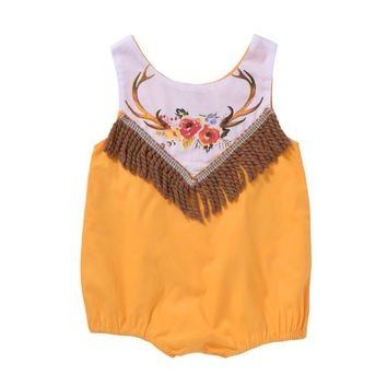 2017 Hot Newborn Baby Girl romper