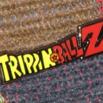 Trippin Ball Z Trippinballz LSD 25 Acid Blotter Art Japanimation Parody Hat Pin