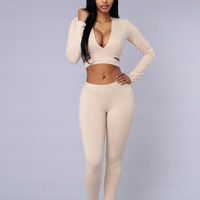 Touch Me Tease Me Leggings - Taupe