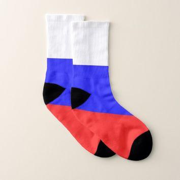 All Over Print Socks with Flag of Russia