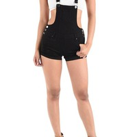 Women's Ripped Cutoff Shorts Overalls RJSO860 - EE1B