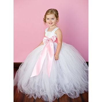 Pink Girl Tutu Dress For Birthday Photo Wedding Party Festival Children Kids Summer Tutu Dress Pricess Girl Tutu Dress 2-8T