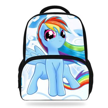 14Inch Hot Sale Cartoon School Bag For Teenagers Girls Children My Little Pony Backpack For Kids Boy
