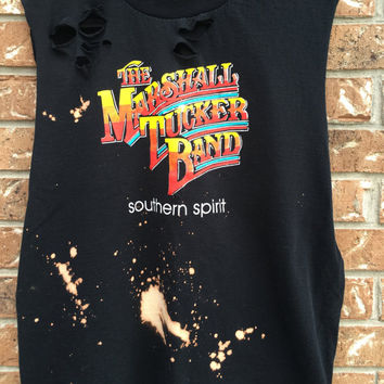 Marshall Tucker Band country distressed awesome t shirt